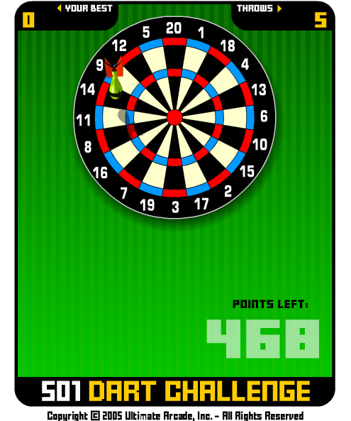 kostenlos 501 darts spielen