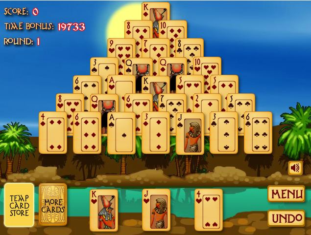 egyptian solitaire pyramid