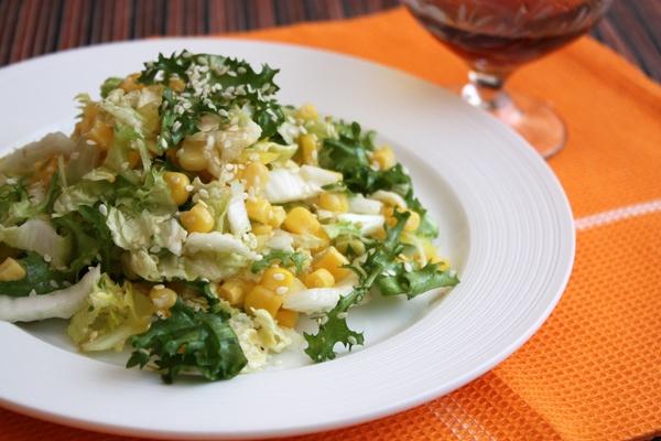 grünen salat zubereiten