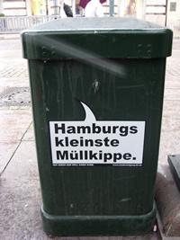 Hamburgs kleinste Müllkippe.