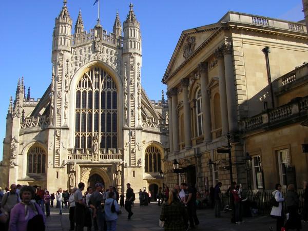 Blick auf die Bath Abbey