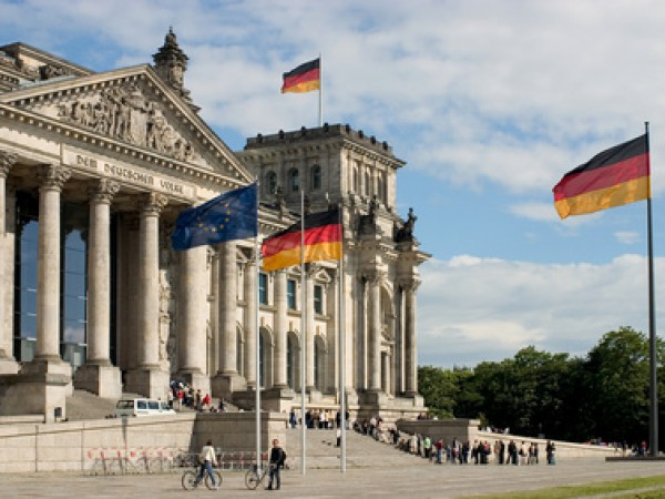 Der Deutsche Bundestag in Berlin