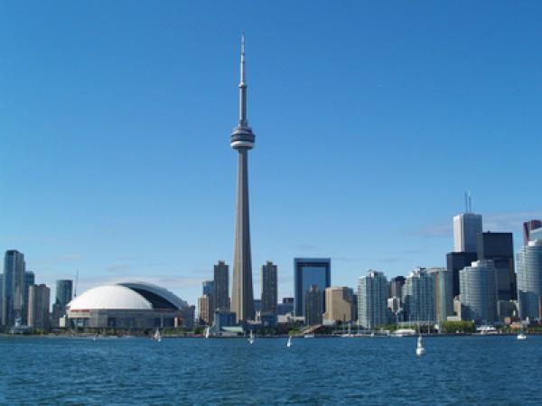 Blick auf die Skyline Torontos