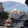 Blick über einen Hügel in San Francisco