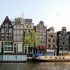 Blick auf alte, niederländische Baukunst (Amsterdam)