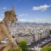Blick auf Paris von den Dächern von Notre Dame