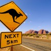 Typische Landstraße in Australien