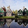 Typische Häuschen im niederländischen Stil