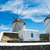 Traditionelle Windmühlen in Mykonos