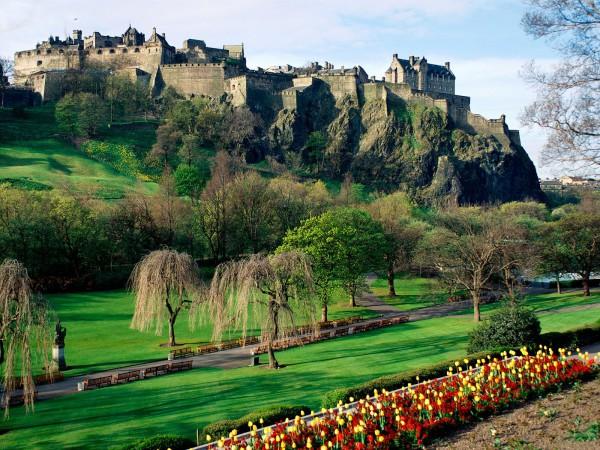 Blick über den Edinburgh Princes Garden
