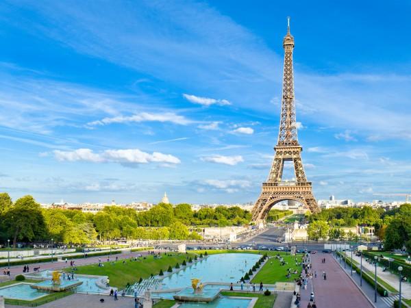 Parispanorama mit Blick auf den Eiffelturm