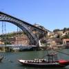 Blick auf die Pont de Luis in Porto